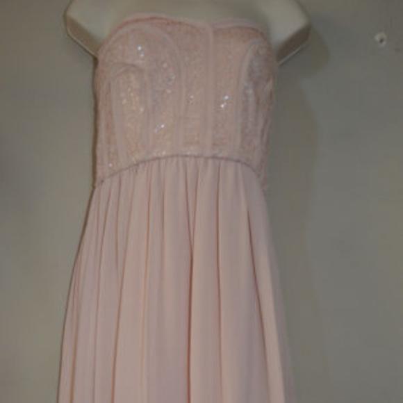 BCBG MAXAZRIA Strapless Sequin Bare Pink 10 #411 Dresses & Skirts - BCBG MAXAZRIA Strapless Sequin Bare Pink 10 #411